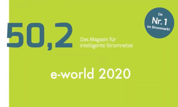 50,2, das Magazin für intelligente Stromnetze besucht die E-world 2020.